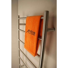 Load image into Gallery viewer, Amba F Straight 7 Bar Towel Warmer, Brushed