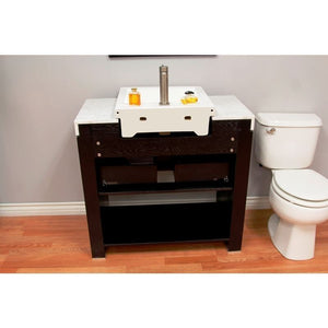 Bellaterra 36 In. Single Sink Vanity 804375A-36-BL