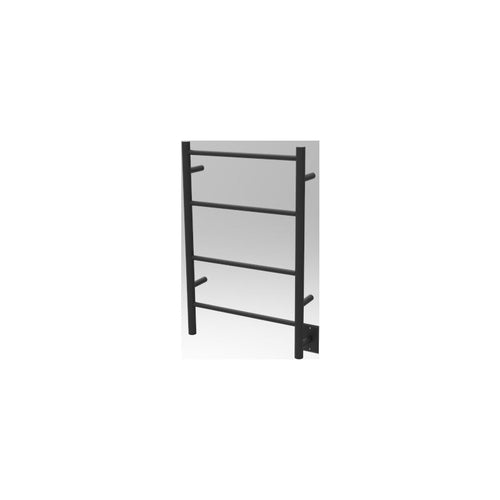Amba I Straight 4 Bar Towel Warmer, Matte Black