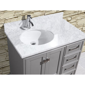 "Adornus Cambridge Grey 36"" Single Bathroom Vanity with mirror"