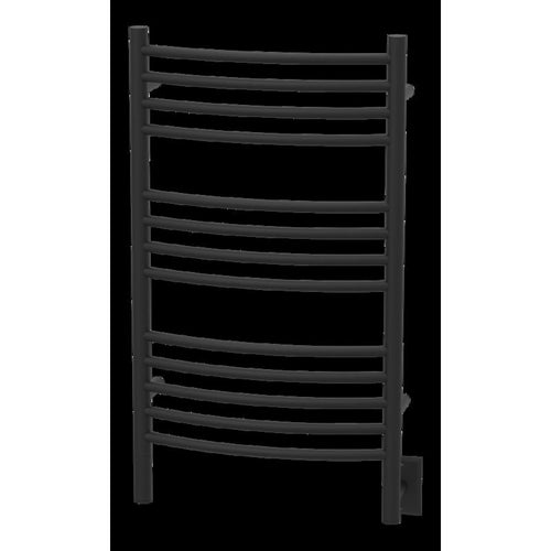 Amba C Curved 13 Bar Towel Warmer, Matte Black