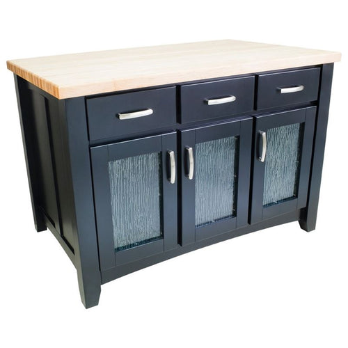 Hardware Resources ISL07-BLK Black Kitchen Island