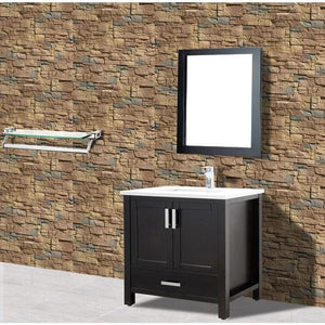 "Adornus Astoria Vanity, Espresso, 37"" with Quartz Top"