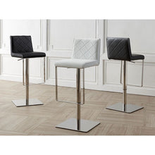 Load image into Gallery viewer, LOFT Black Eco-leather w Stainless Steel Bar Stool by Casabianca Home