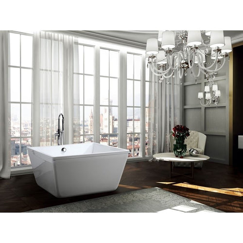 Bologna 47 inch Freestanding Bathtub in Glossy White