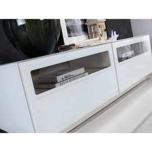 CORTE High Gloss White Lacquer Entertainment Center by Casabianca Home