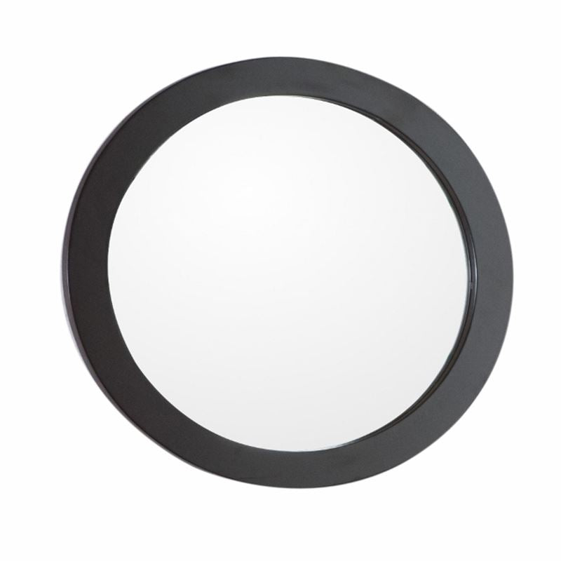 Bellaterra Round Framed Mirror Manufactured Wood Espresso