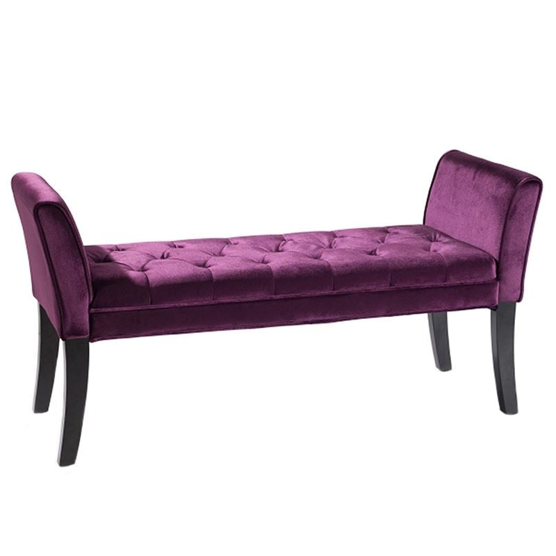 Chatham Bench in Purple Velvet