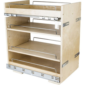 "No Wiggle 14"" Base cabinet pullout with premium soft-close concealed undermount slides"