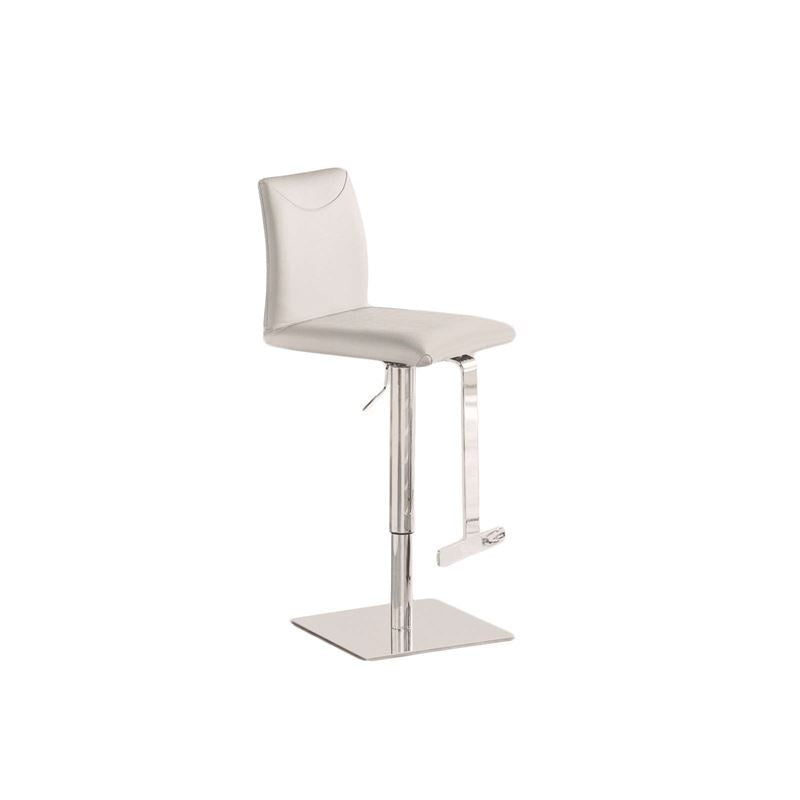TITO Italian White Leather Bar Stool by Talenti Casa