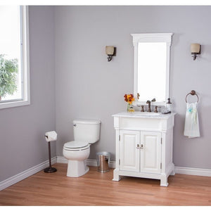 Bellaterra 36 In Single Sink Vanity Wood White