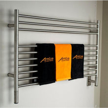 Load image into Gallery viewer, Amba L Straight 10 Bar Towel Warmer, Brushed
