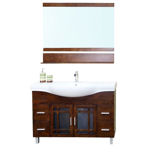 Bellaterra 48 In Single Sink Vanity Wood Walnut
