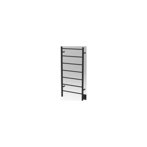 Amba F Straight 7 Bar Towel Warmer, Matte Black