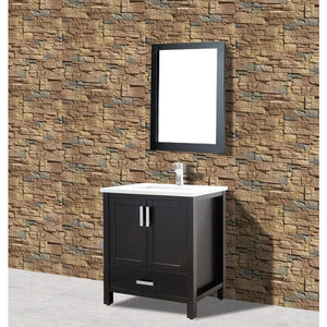"Adornus Astoria Vanity, Espresso, 31"" with Quartz Top"