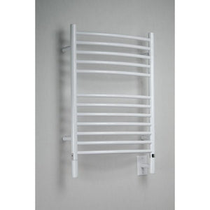 Amba E Curved 12 Bar Towel Warmer, White
