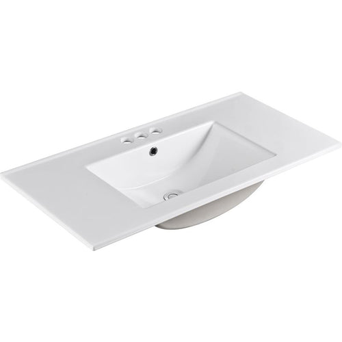 Bellaterra 36 In. Single Sink Ceramic Top