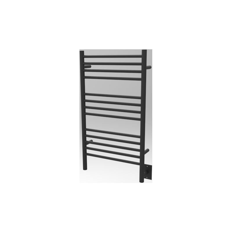 Amba C Straight 13 Bar Towel Warmer, Matte Black