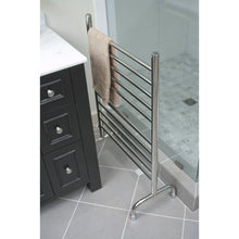 "Load image into Gallery viewer, Amba Freestanding 24"" 10 Bar Towel Warmer, Brushed"