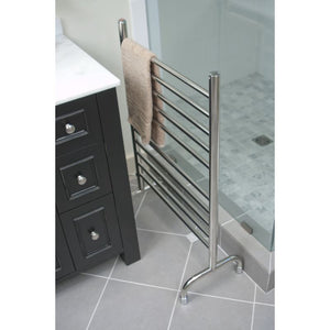 "Amba Freestanding 24"" 10 Bar Towel Warmer, Brushed"