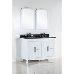 Bellaterra 48 In. Double Sink Vanity With Black Galaxy Top 500701-48D-BG