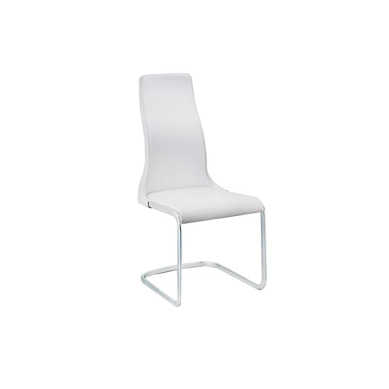 VERO Italian White Leather Dining Chair by Talenti Casa