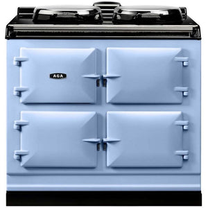 AGA Dual Control Cast Iron 3-Oven Electric Range DUCK EGG BLUE