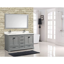 "Load image into Gallery viewer, Adornus Cambridge Grey 60"" Double Bathroom Vanity with mirror"