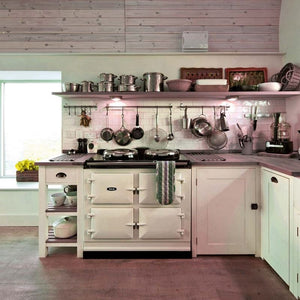 AGA Dual Control Cast Iron 3-Oven Electric Range PEARL ASHES
