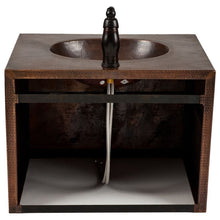 "Load image into Gallery viewer, 24"" Copper Wall Mount Vanity and Faucet Package"