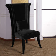 Load image into Gallery viewer, Mad Hatter Dining Chair In Black Rich Velvet