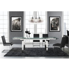 Load image into Gallery viewer, FONTANA Dark Gray Eco-leather Dining Chair by Casabianca Home