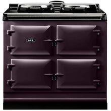 Load image into Gallery viewer, AGA Dual Control Cast Iron 3-Oven Electric Range AUBERGINE