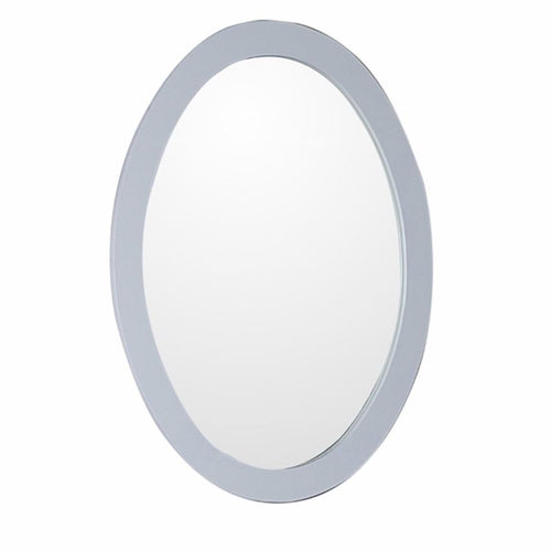 Bellaterra Oval Framed Mirror Manufactured Wood White