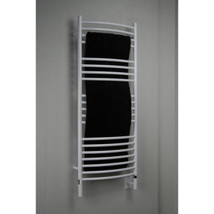 Amba D Curved 20 Bar Towel Warmer, White