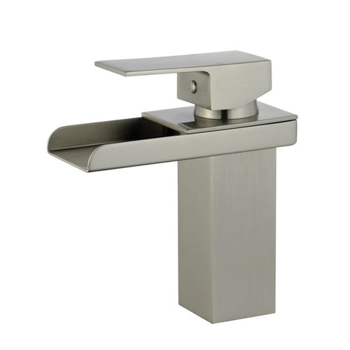 Pamplona Single Handle Bathroom Vanity Faucet in Brushed Nickel