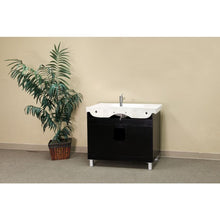 Load image into Gallery viewer, Bellaterra 39 In Single Sink Vanity Wood Black  Right Side Drawers