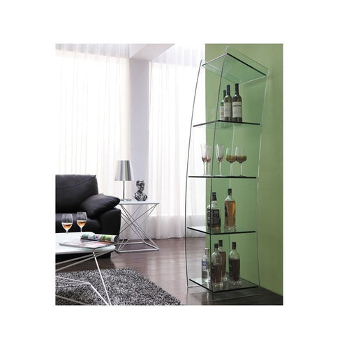 MATE Clear Bookcase by Casabianca Home