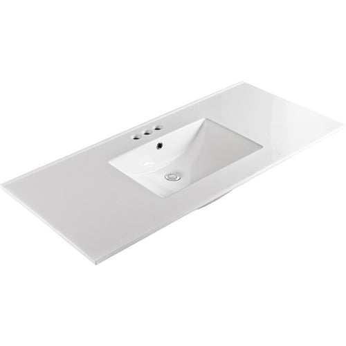 Bellaterra 49 In. Single Sink Ceramic Top 304922-B