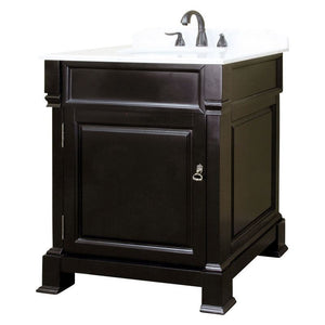 Bellaterra 30 In Single Sink Vanity Wood Espresso