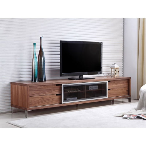 DUKE Walnut Veneer Entertainment Center by Casabianca Home