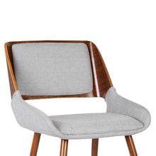 Load image into Gallery viewer, Panda Mid-Century Dining Chair Walnut Finish and Gray Fabric
