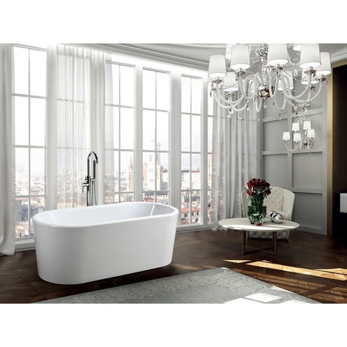 Padua 63 inch Freestanding Bathtub in Glossy White