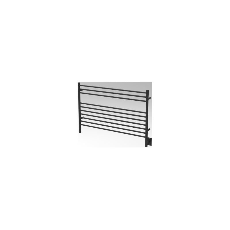 Amba L Straight 10 Bar Towel Warmer, Matte Black