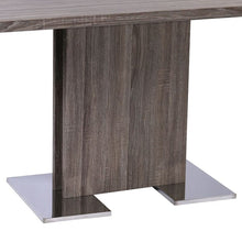 "Load image into Gallery viewer, Dylan 30"" Bar Height Barstool in Brushed Stainless Steel and Grey Faux Leather"