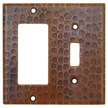 Load image into Gallery viewer, Copper Combination Switchplate, 1 Hole Single Toggle Switch