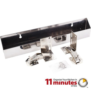"14-13/16"" Stainless Steel Tipout 2 Shallow Tray Set"