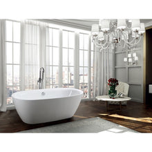 Load image into Gallery viewer, Palermo 67 inch Freestanding Bathtub in Glossy White