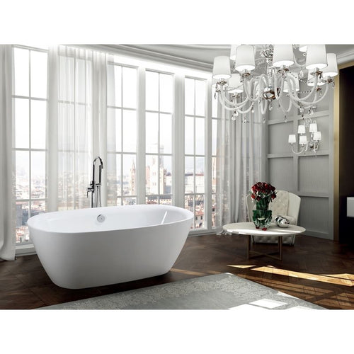 Palermo 67 inch Freestanding Bathtub in Glossy White