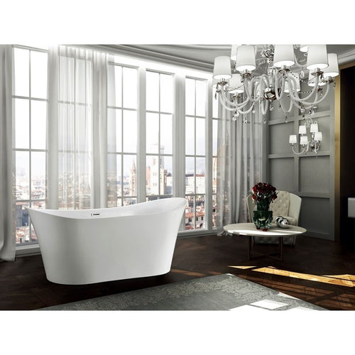 Bergamo 67 inch Freestanding Bathtub in Glossy White